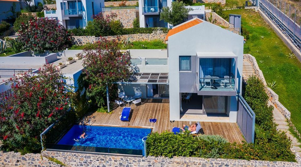 Skopelos Hotels, Deluxe Two Bedroom Two Level Sea View Pool Villa
