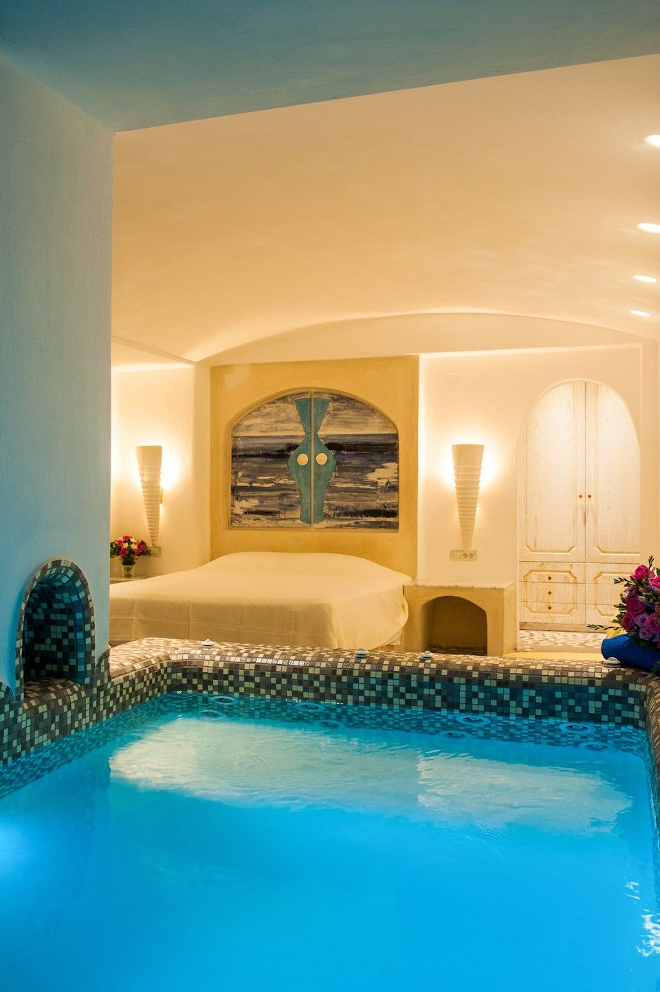 Astarte Suite With Private Infinity Pool Indoor Couples