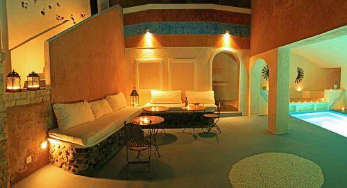 Astarte Suites Luxury Hotel | Lounge Pool Area | Santorini island