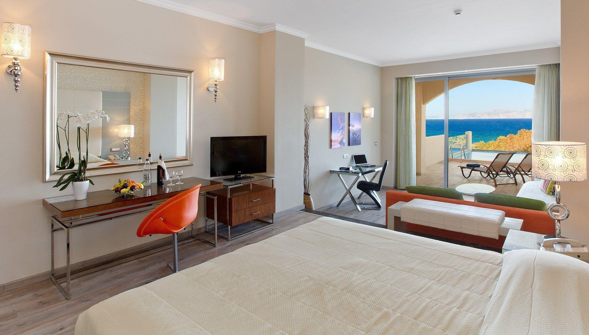 Deluxe Junior Suite Side Sea View With Personal Pool Atrium Platinum Luxury Resort Hotel Spa
