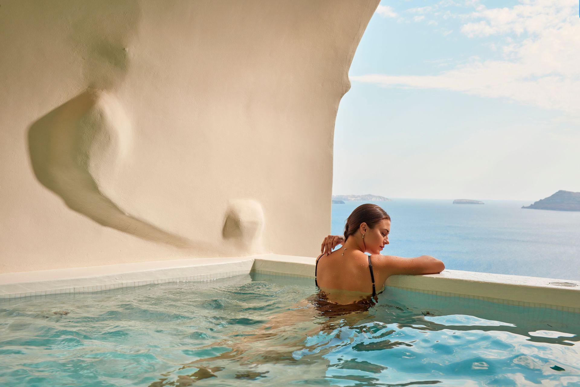 Executive Suite Cave Pool Caldera Sea View - Canaves Oia
