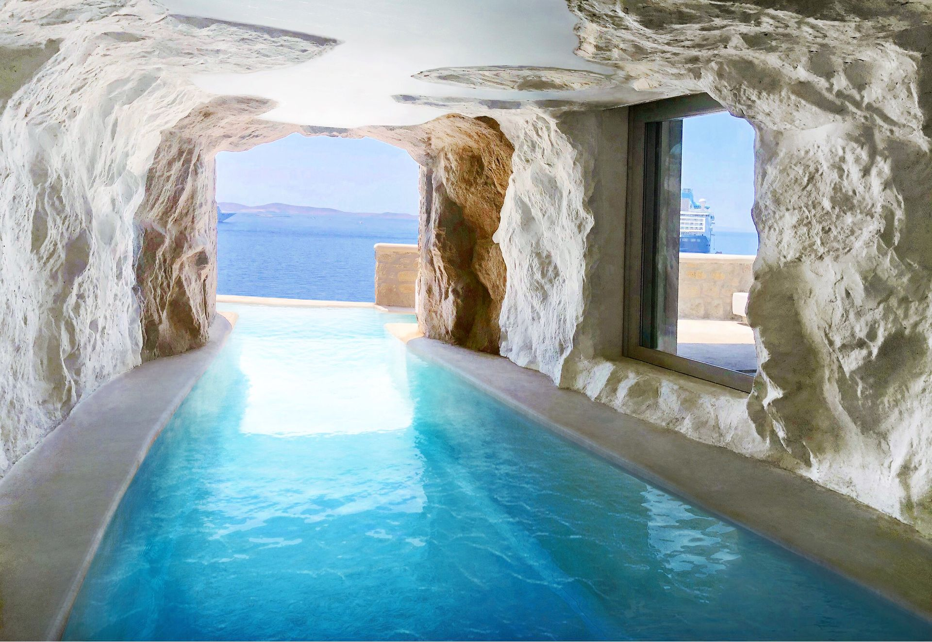 Billedresultat for Cavo Tagoo Cave pool, Greece
