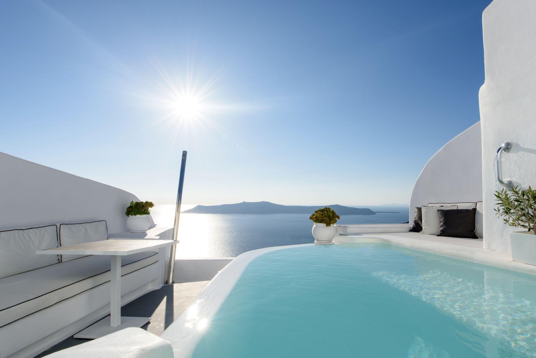 Honeymoon Pool Suite Dana Villas Santorini Hotel
