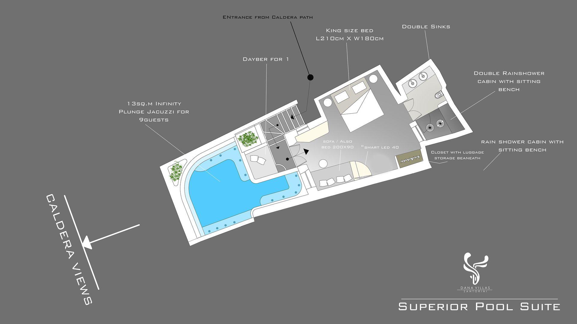 Superior Pool Suite Outdoor Infinity Plunge Pool Dana