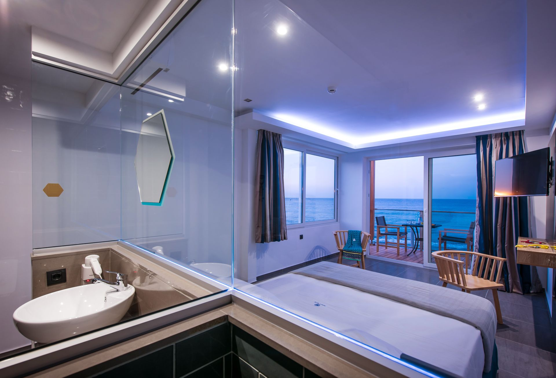Deluxe Sea Front Junior Suite - Infinity Blue Boutique Hotel and Spa ...