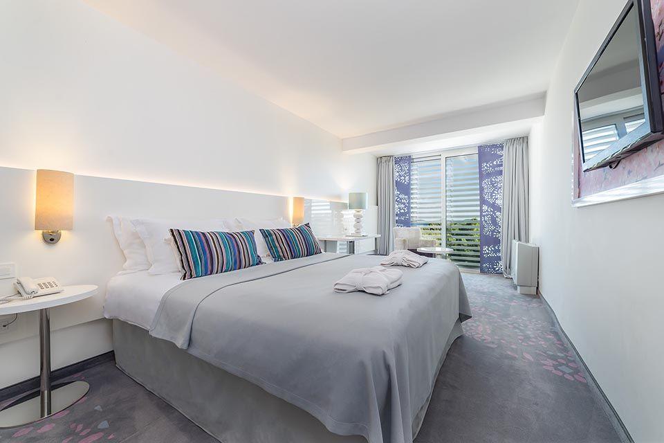 Doppel- oder Zweibettzimmer, 22 m² Meerblick, mit französischem Balkon-2