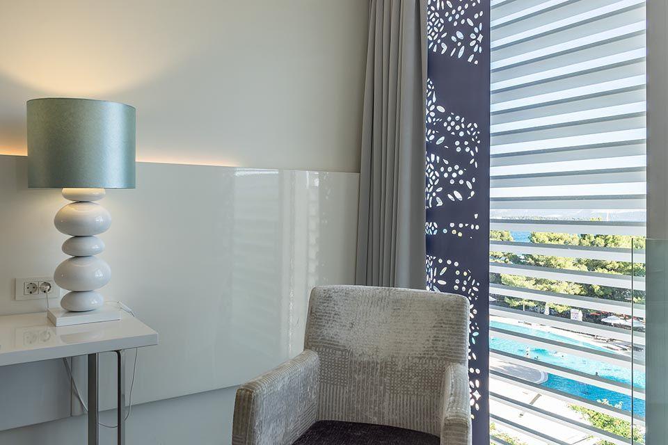 Doppel- oder Zweibettzimmer, 22 m² Meerblick, mit französischem Balkon-4