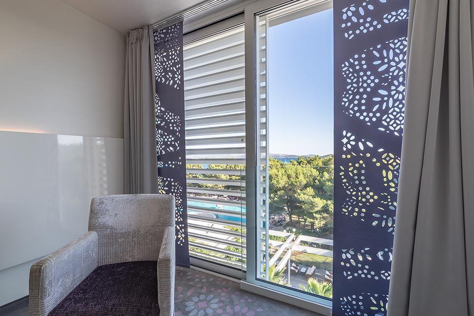 Doppel- oder Zweibettzimmer, 22 m² Meerblick, mit französischem Balkon-6