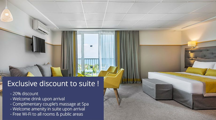 EXCLUSIVE DISCOUNT TO SUITE !