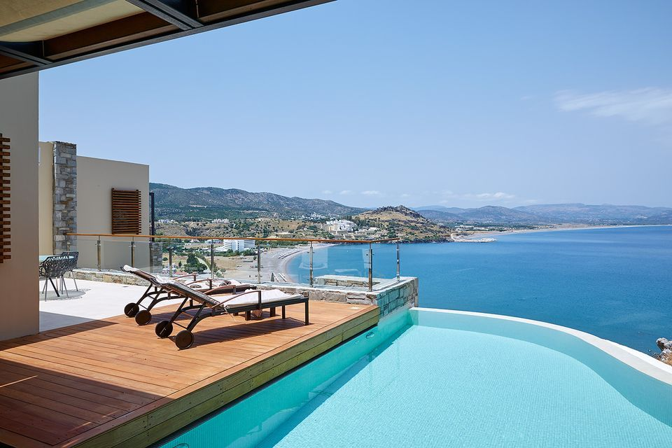 Private Pool Villa Panoramic Sea View Lindos Blu Luxury