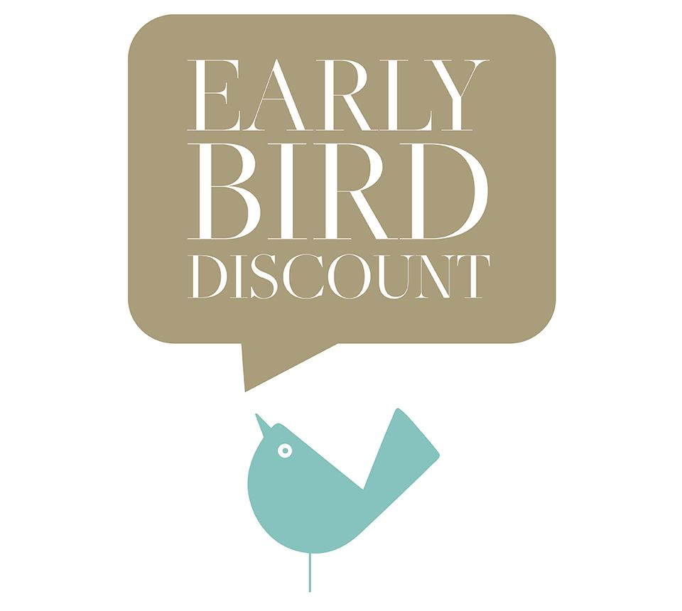 BOOK NOW YOUR S2020 EARLY BIRD DEAL!