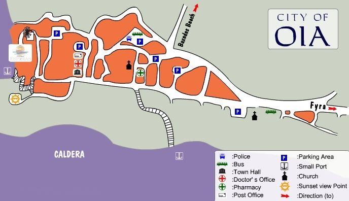Map Directions Esperas Hotel In Oia Ia Santorini
