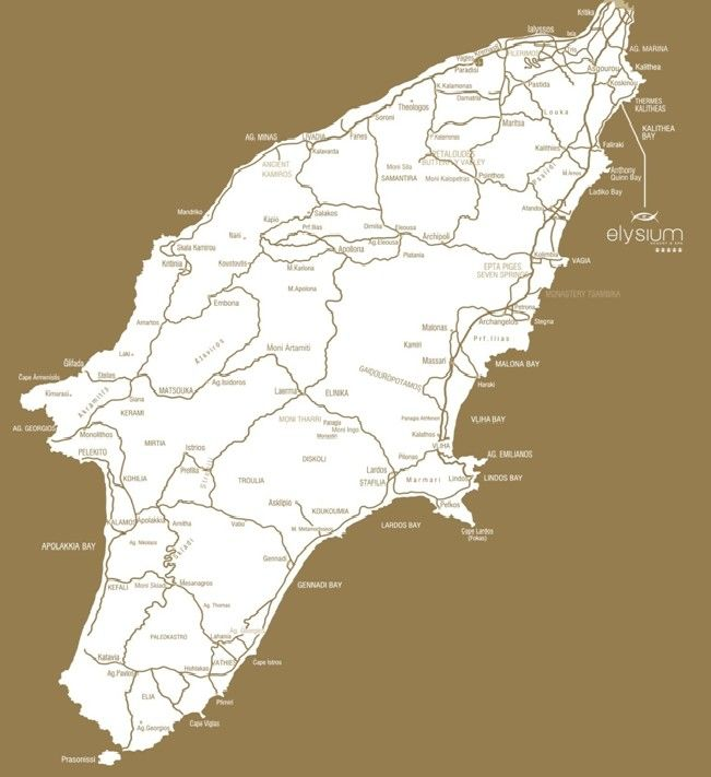 Rhodos Karte Faliraki.Map Directions Elysium Resort Spa Rhodes Rhodos Island