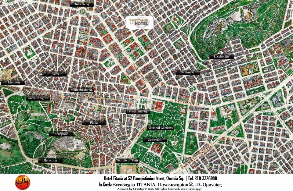 Map Directions Titania Hotel Athens Greece Book Direct From