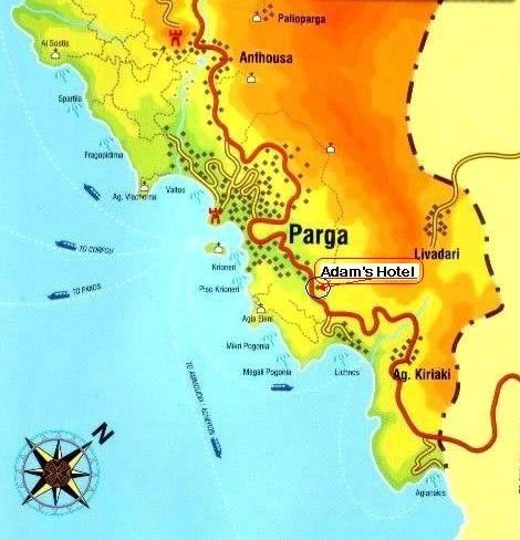 Map Directions Adam S Hotel Parga Greece Book Online