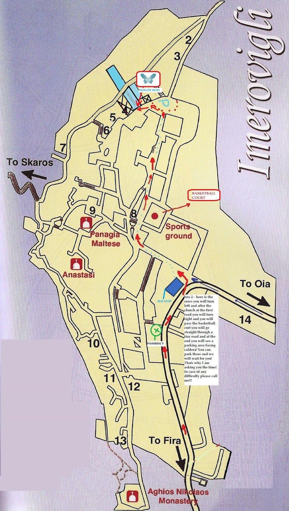 Athinios Port 10 Kilometres O Fira Town 2 Oia 9 Mini Market 100 Meters