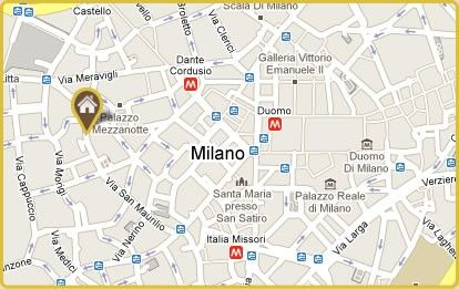 Map Directions Vecchia Hotel Milan Italy Book Online