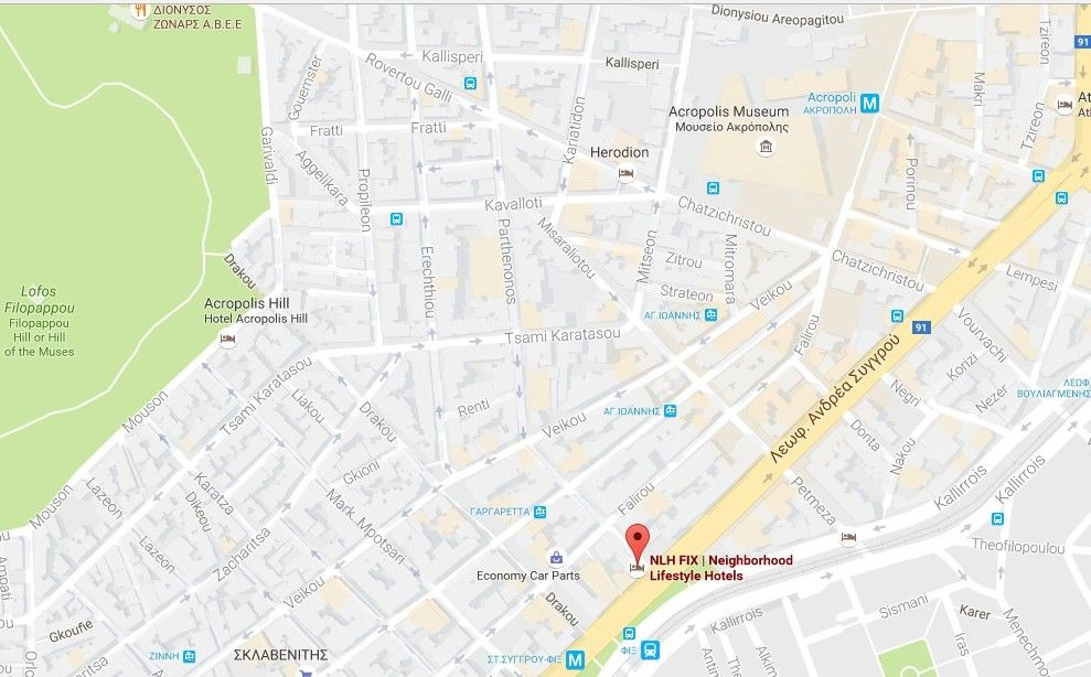 Map Directions Nlh Fix Hotel Neighborhood Lifestyle Hotels