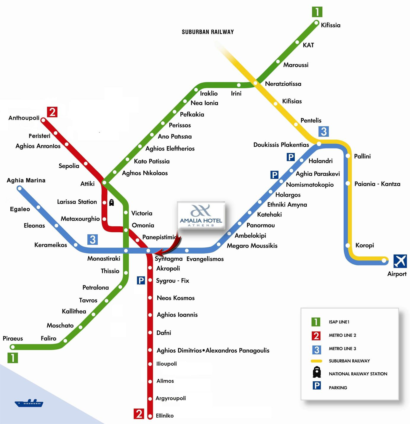 Subway Map Athens Greece.Map Directions Amalia Hotel Athens Amalia Hotels Greece Book