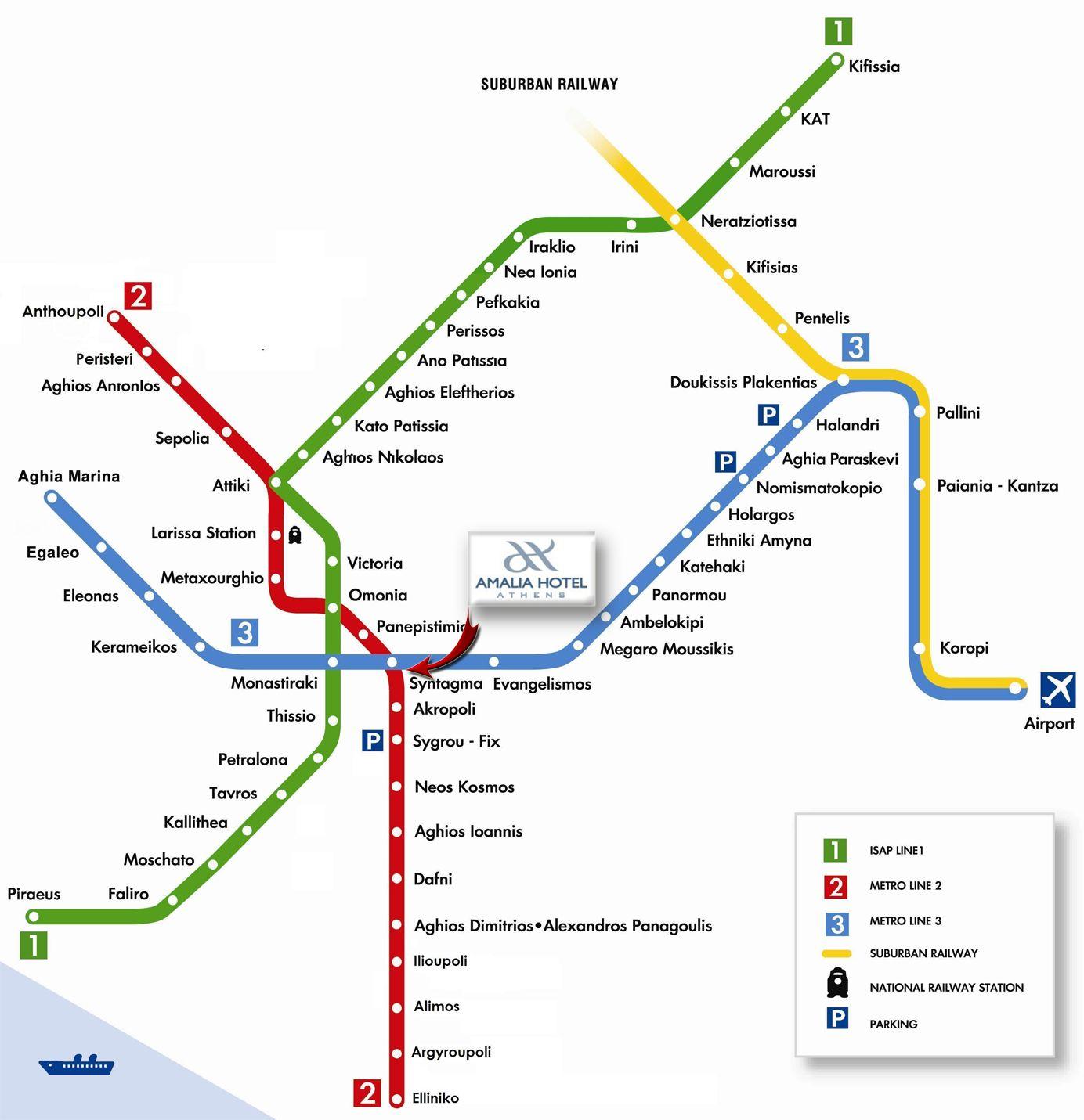 Map & directions   Amalia Hotel Athens Amalia Hotels Greece | Book