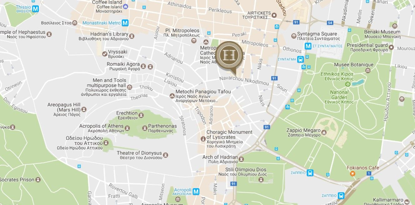 Map Directions Electra Palace Hotel Athens Greece Book Online
