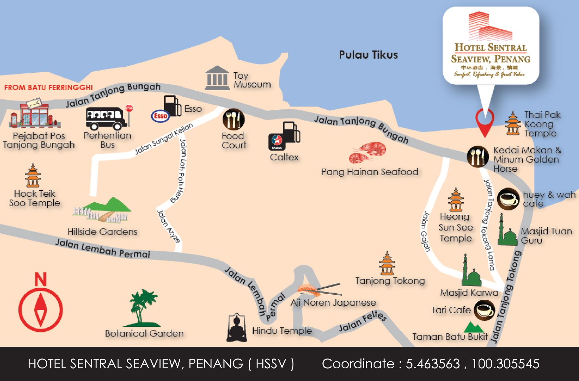 Direction Map Malaysia on