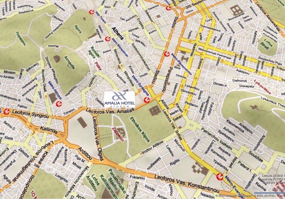 Map Directions Amalia Hotel Athens Amalia Hotels Greece Book