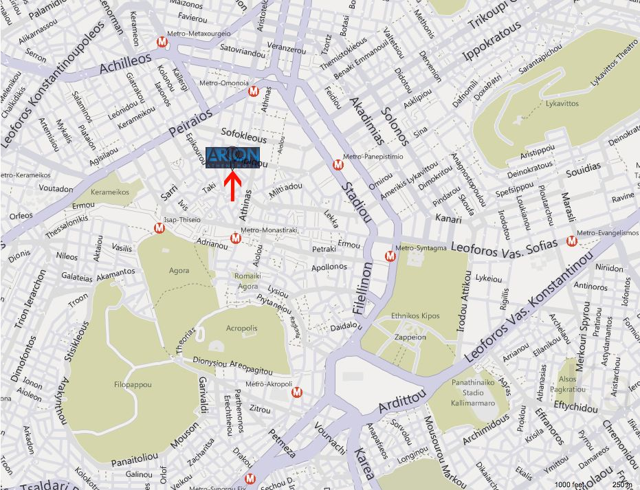 Map Directions Arion Hotel Athens Athens City Center Hotel