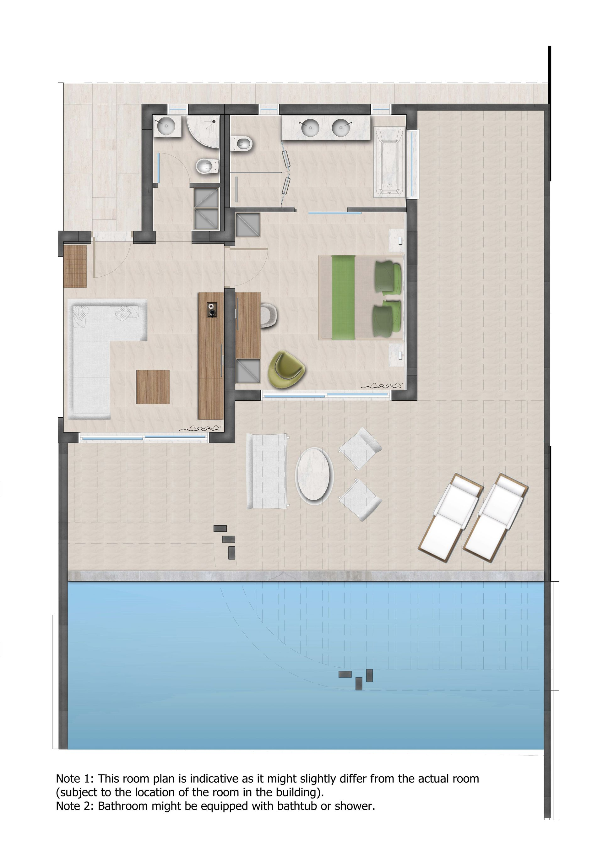 Mayia Suite With Private Pool Sea View Exclusive Resort Spa Note This Is A Thumbnail Diagram Click On It To Enlarge Photo