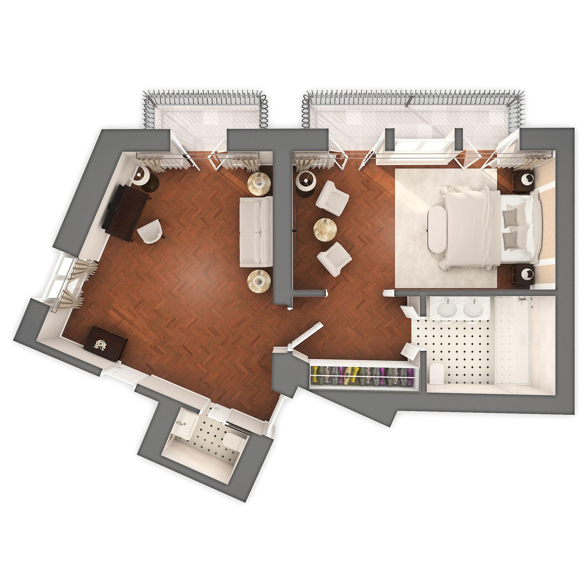 Alma & Gustav Mahler Suite 60 m² Pogled More i Balkon-5