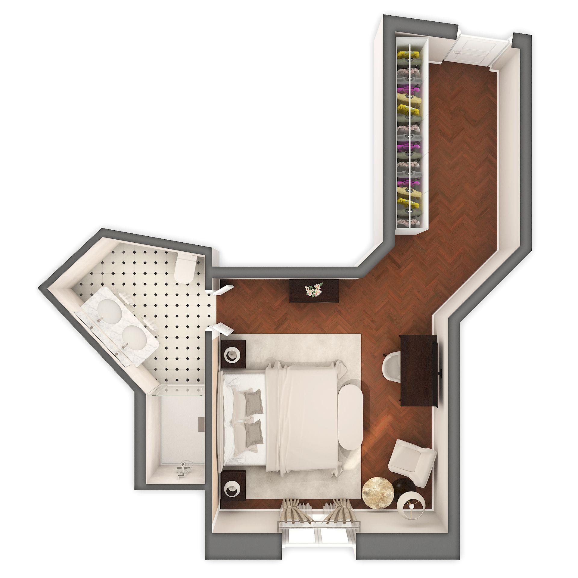 Deluxe Dvokrevetna Soba Povijesna Villa 28m² Pogled More-4