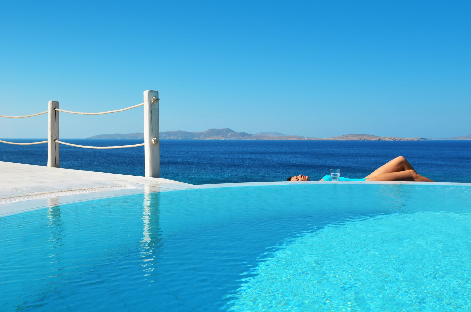 Direct Tv Cable And Internet >> Deluxe Suite Sea View with Private Pool - Mykonos Grand Hotel & Resort, Mykonos, Greece | Book ...