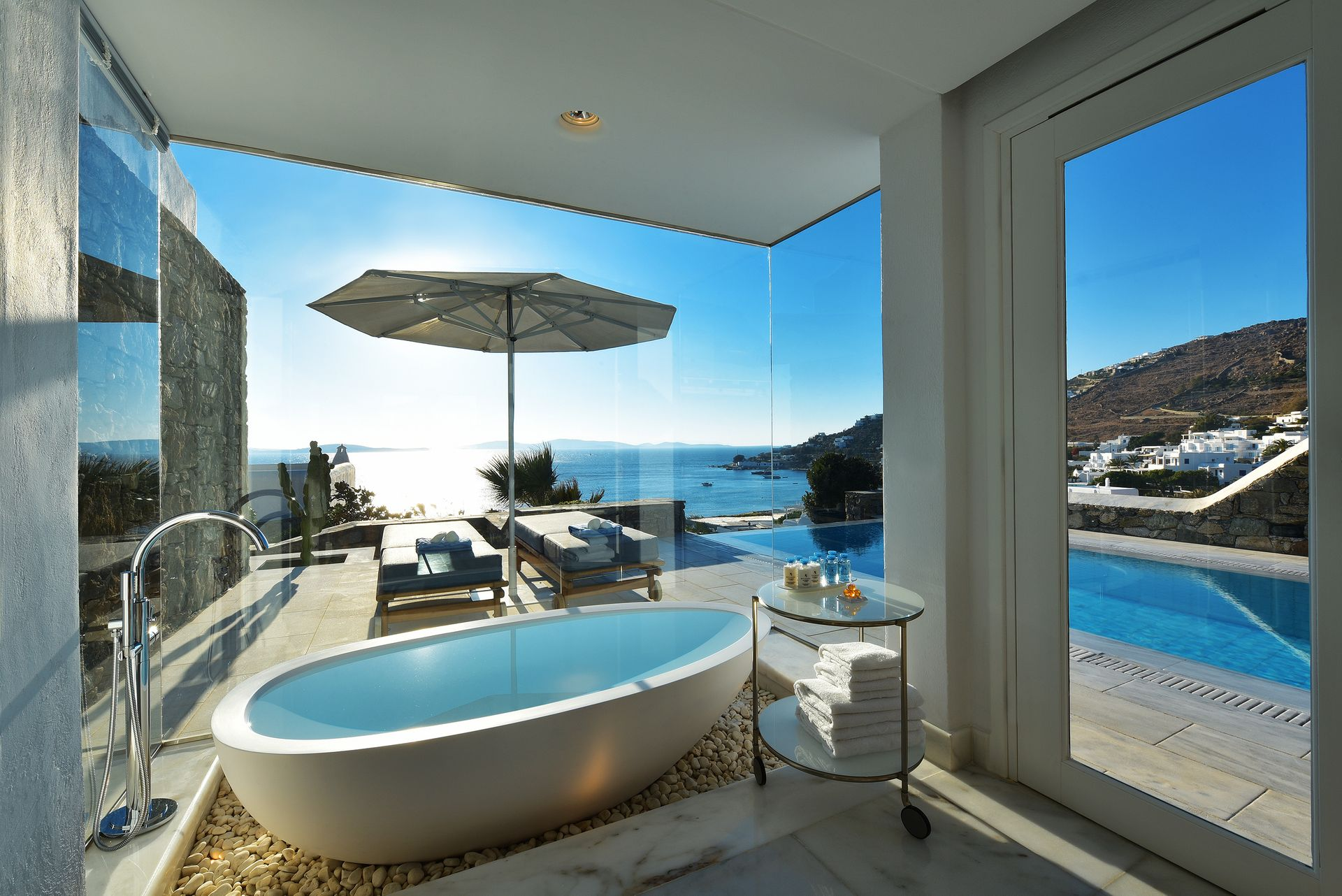 Grand Suite Sea View with Private Pool - Mykonos Grand Hotel ...