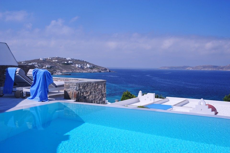 Mykonos Grand Hotel Resort A Chef Can Barbeque At Suite With Private Pool Relaxation Comes Naturally In Sitting Areas Verandas Set