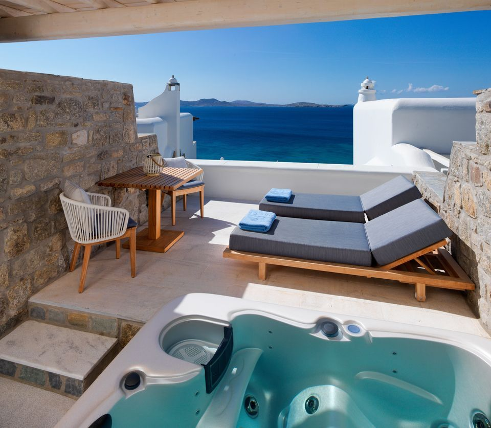 Premium Sea View Jacuzzi Room Mykonos Grand Hotel