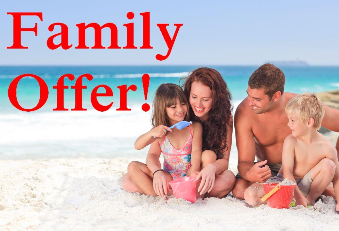 FAMILY OFFER!BREAKFAST & DINNER
