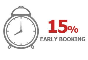 EARLY BOOKING DISCOUNT -15%