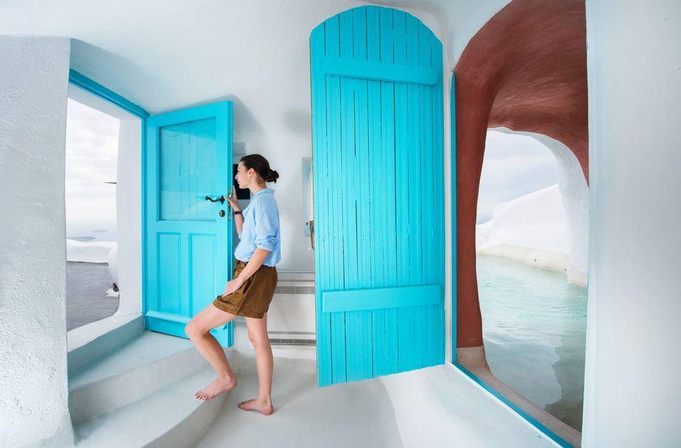 Sophia Suites Santorini : Aurora cave suite caldera sea view sophia suites imerovigli