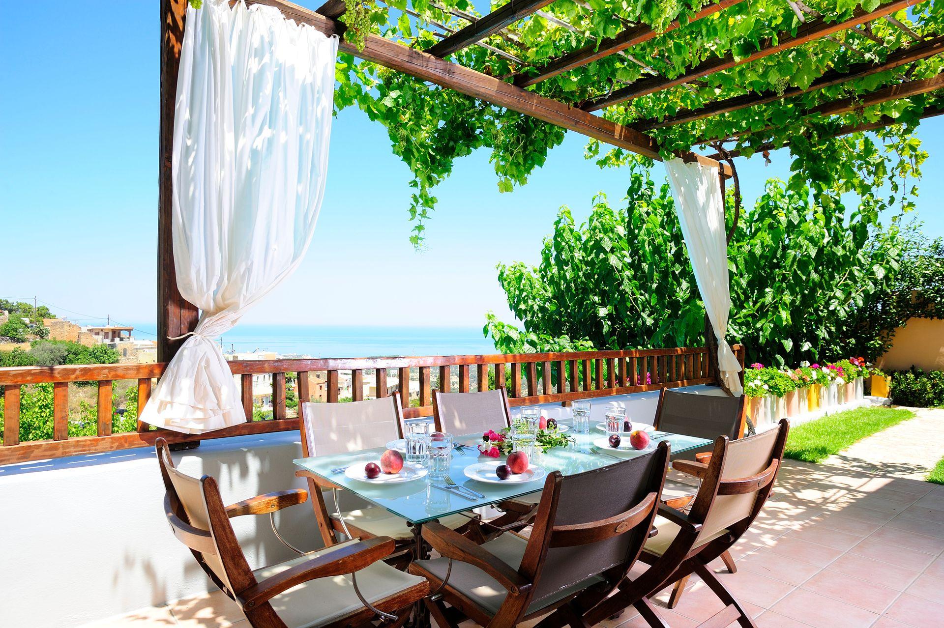 Location de gîte en Crète avec piscine et vue panoramique - THIMONIES VILLAS
