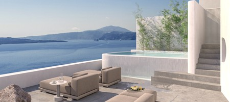 Cave Villa (three bedroom) with Infinity Pool Caldera Sea View