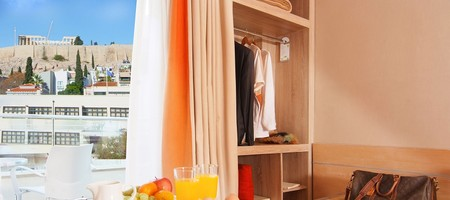 Superior Double or Twin Room with Acropolis View