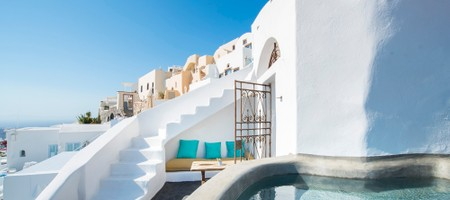 Crypt | Exclusive Cave Suite with Indoor & Outdoor Plunge Pool & Caldera View