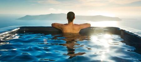 Superior Honeymoon Cave Suite with Indoor & Outdoor Plunge Pool & Caldera View